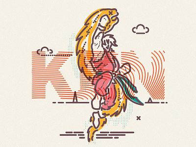 Ken Masters street fighter james oconnell jamesp0p special thumbprint illustration character ken fight streetfighter