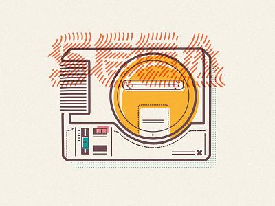 SEGA Megadrive dribbble minimal illustration 90s sonic james oconnell jamesp0p thumbprint console megadrive gaming