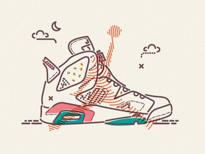 Air Jordan jamesp0p james oconnell minimal illustration thumbprint shoes sneakers trainers jordan nike air basketball
