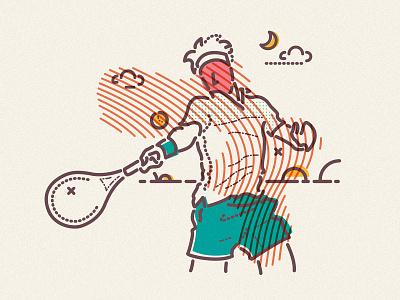 Play hard tennis player james oconnell jamesp0p colour and lines sport play thumbprint agassi serve grand slam wimbledon tennis