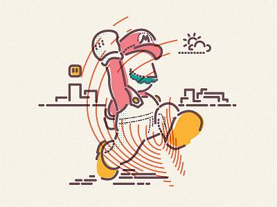 Super Mario illustration icon mario luigi hero nintendo lines win gameboy