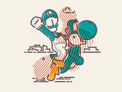 Bros illustration icon lines luigi mario super yoshi nintendo gameboy snes