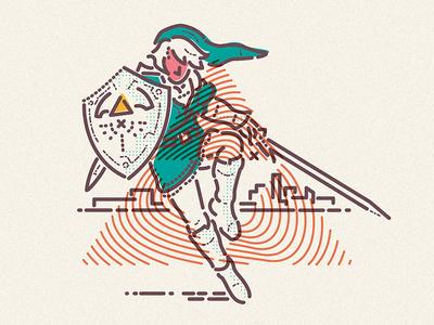 Zelda triforce icon rupee skyward capcom legend gaming lines colour zelda illustration