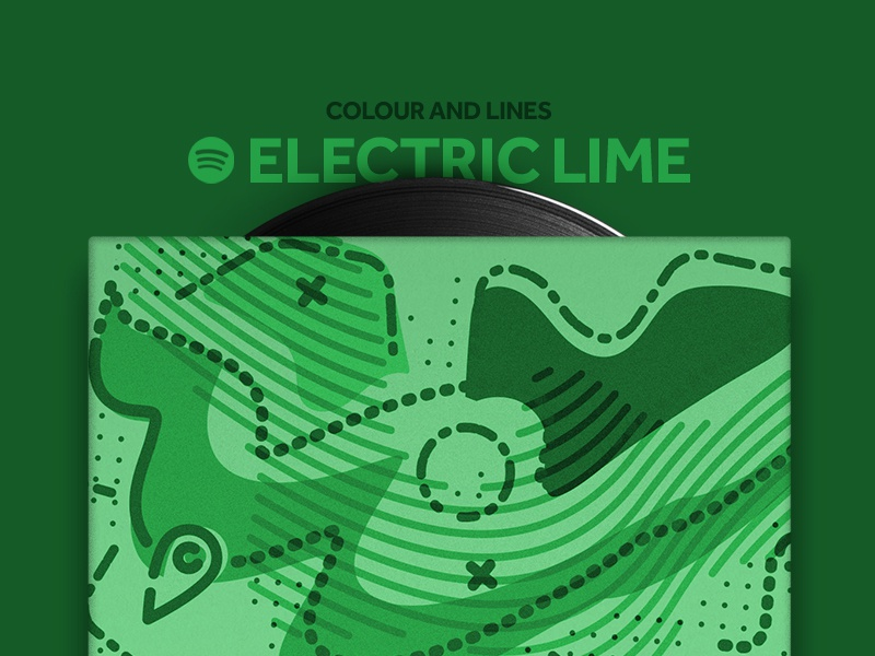 Electric Lime Mixtape motivate mixtape music spotify colour and lines icon illustration