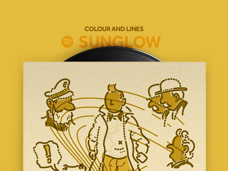 Spotify playlist dribbble sunglow
