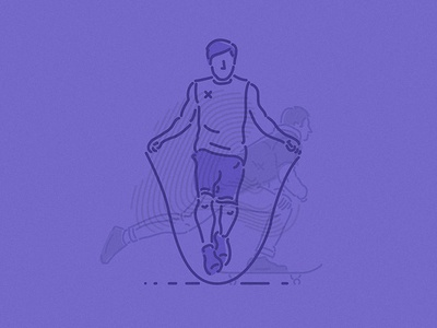 Skip & skate reign train fitness symbol icons characters thumbprint colourandlines skip skater illustration