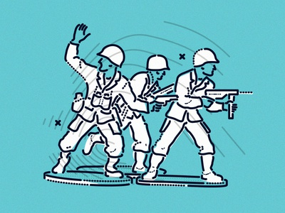 Firing Line* thumbprint lines craft minimal combat army front line honesty feedback graphic illustration
