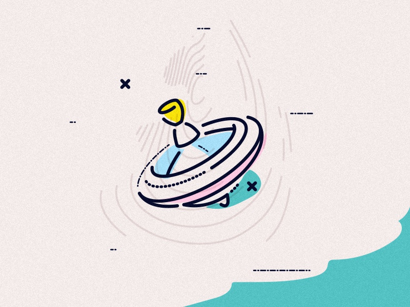 Spinner icon graphic grow thumbprint lines minimal james oconnell youth young spinner toy illustration