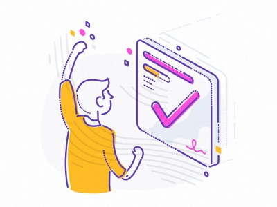 Getting what you want james oconnell irreverent business app achieve character minimal lines fintech finance icon illustration