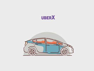 Choose your ride james oconnell automobile brand animation minimal lines drive taxi vehicles cars illustration uber