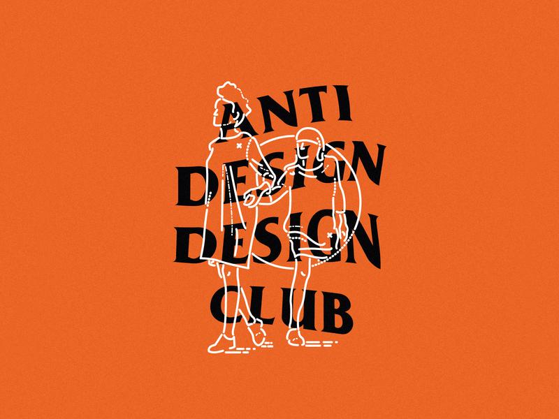 Anti Design Club dribbble club minimal lines remote studio agency inclusion void graphic design illustration