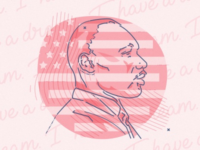I have a dream equal rights portrait minimal graphic james oconnell character lines colour and lines thumbprint illustration martin luther king