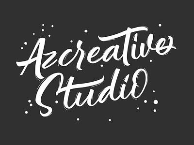 Azcreative Studio Logo illustrator identity modern design branding portfolio creative minimal logo illustration