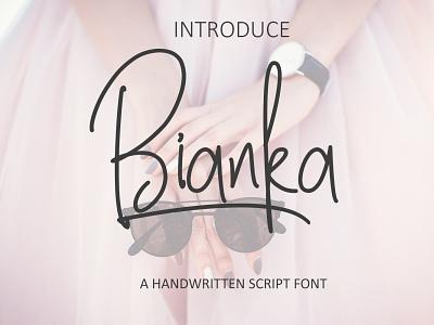 Bianka Font monoline minimal identity logo modern creative branding design