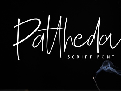 Pattheda Script Font handwritten handlettering script modern portfolio logo minimal creative design branding