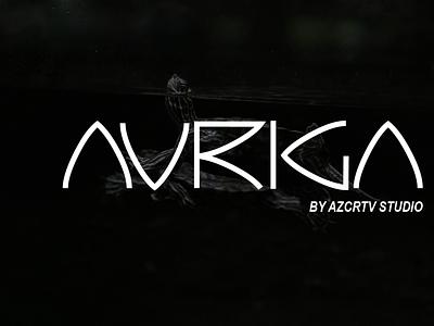 Auriga Font alien space sans identity modern creative branding design