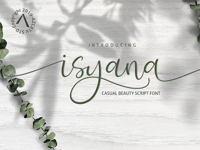 Isyana Script - A Beautiful handwritten font magazine logo invitation poster handlettering handwritten script branding design minimal modern