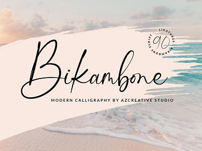 Bikambone Modern Calligraphy Font weddings wedding invitation wedding font invitation font invitations invitation calligraphy logo calligraphy modern