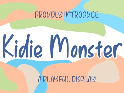 Kidie Monster A Playful Font With Monster Character halloween monster children child minimal illustration logo creative modern