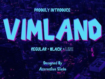 Vimland Modern Font game design technology typography corporate ui identity logo design modern