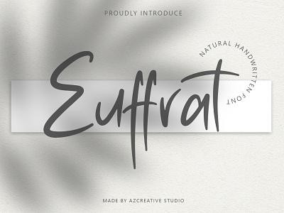 Euffrat - Simply Natural Handwritten identity creative handlettering minimal logo branding design modern