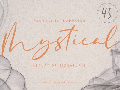 Mystical - Beauty Of Signatures calligraphy and lettering artist calligraphy signature signature font simplicity simple beautiful beauty fonts font handlettering creative logo design modern
