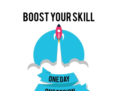 Boost Your Skill animation branding vector minimal illustrator design illustration flat