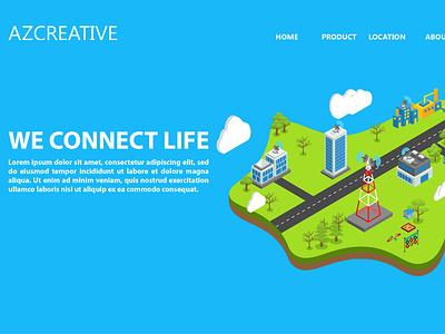 Internet Connection Web Header identity branding ux website web ui minimal illustration flat design