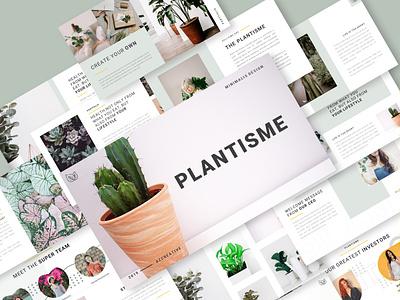 PLANTISME - Creative Presentation Template creative portfolio corporate modern presentation template presentation design presentation minimal design