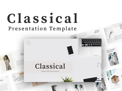Classical - Creative Presentation Template natural photography studio pitchdeck startup clean simple modern company corporate agency portfolio business creative