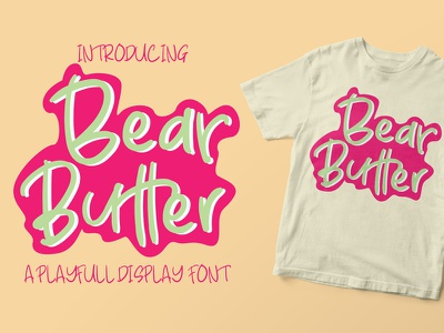 Bear Butter Playfull Display Font book bookcover font mug tshirt printing