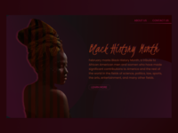Black History Month - A Simple Webpage