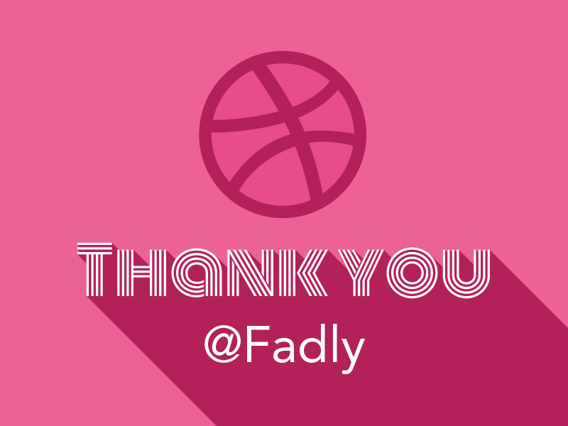 Thank you you thank invite dribbble