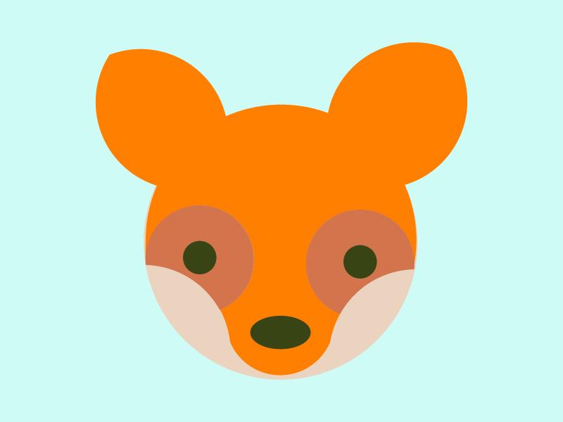 Fox face design illustration golden ratio logo design