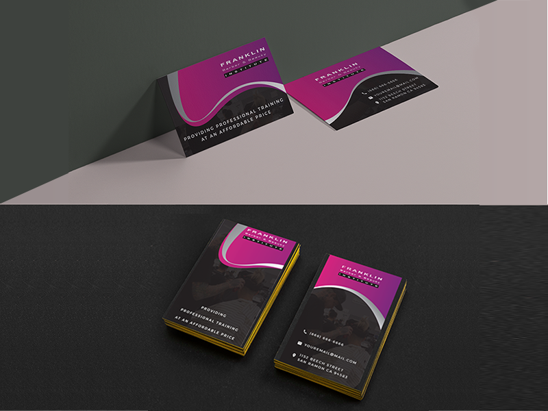 Business Card Design illustation design card bussines salon