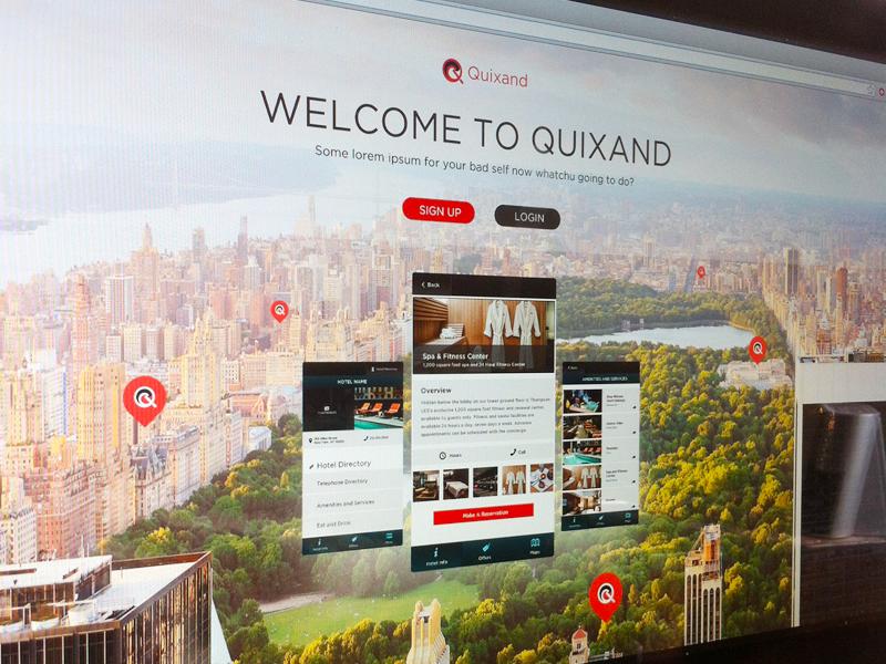 Quixand Landing page landing page app branding web digital