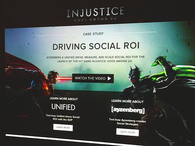 Injustice Case Study Landing landing page web design layout simple dark website design injustice videogame video game
