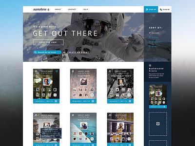 Wolfpack Homepage dashboard ui web flat website social clean user interface