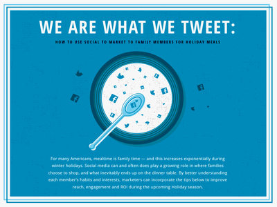We Are What We Tweet Infographic Cover infographic soup facebook twitter food layout design illustrator