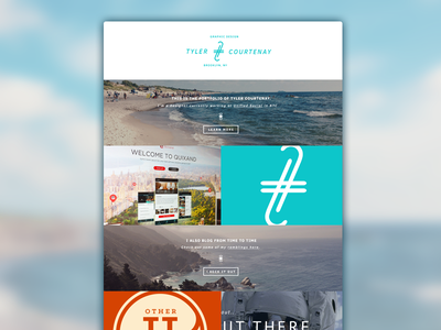 My site website web design layout clean simple mockup