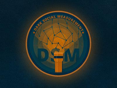 DSM Sticker illustration type photoshop illustrator social dark texture sticker