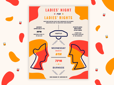 Ladies Night For Ladies Rights fundraiser ladies women flyer poster