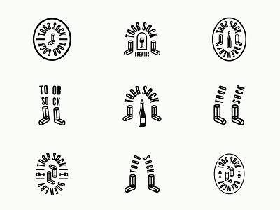 TOOB SOCK BREWING Logo Exploration illustration identity beer branding exploration logo design