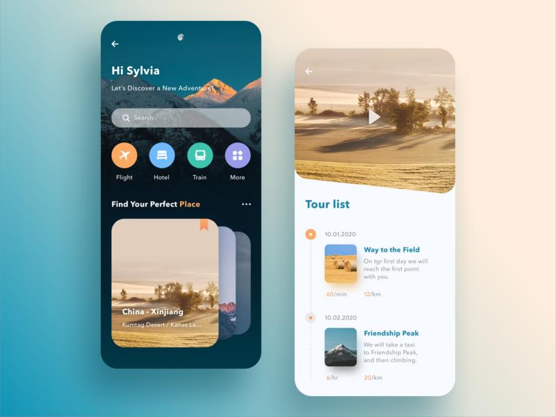 Time to enjoy life app ui design
