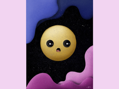 Just a cute surprised face texture cute emoji sketch drawing vector illustration colorful design