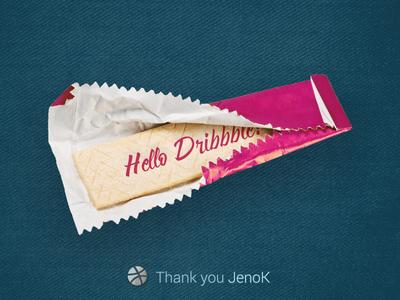 Hello Dribbble! jeans bubble gum dribbble hello