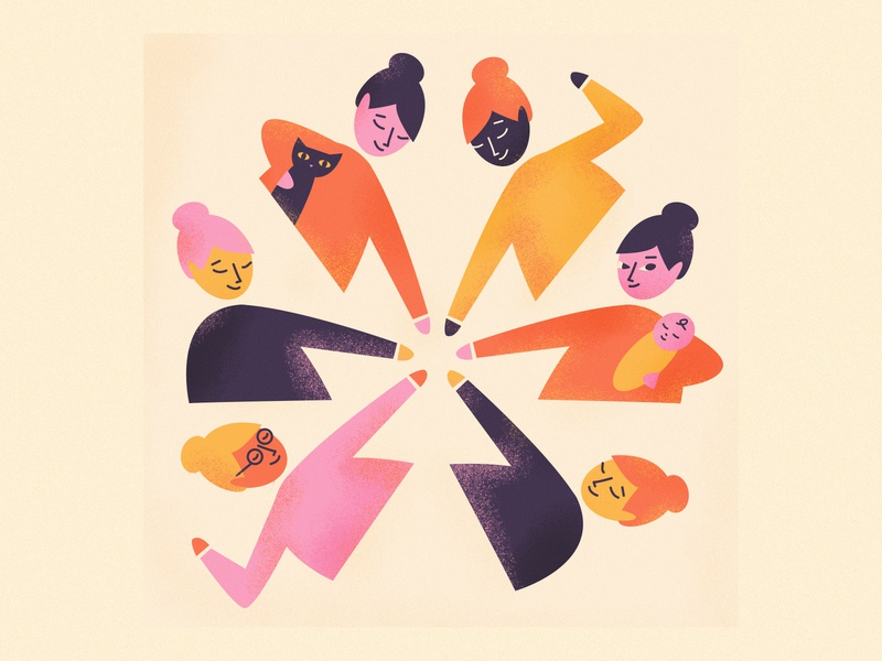 Together Stronger illustration women empowerment womens day women
