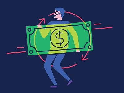 Visibility product illustration transparent money illustration