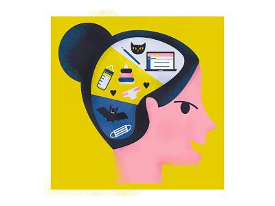 Brainpower diagram illustration