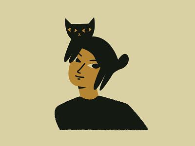 Akira cat lady illustration cat